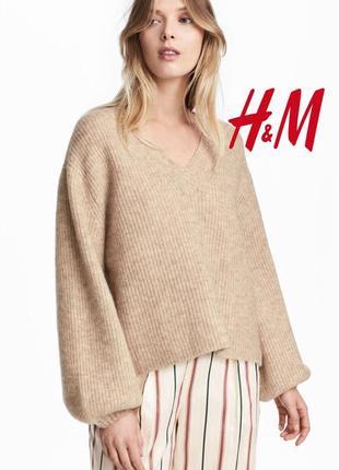 Трендовый теплый джемпер мохер+шерсть супер стильный от h&m