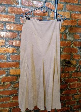 Миди юбка из искусственной замши wallis