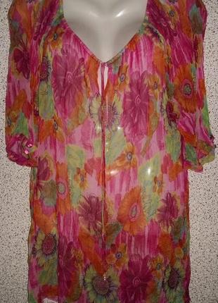 Яркая летняя блузка туника от бренда vira ruchi collection