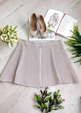Короткая мини юбка красная белая на новый год  фотосессию оригинальная/ змейка спереди