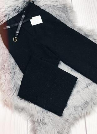 Плотные чёрные брюки / штаны кюлоты stradivarius