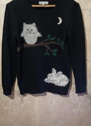 Вязаный свитер с рисунком 14