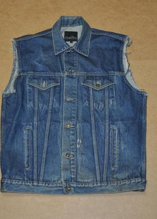 Relic джинсовый жилет жилетка мужской безрукавка