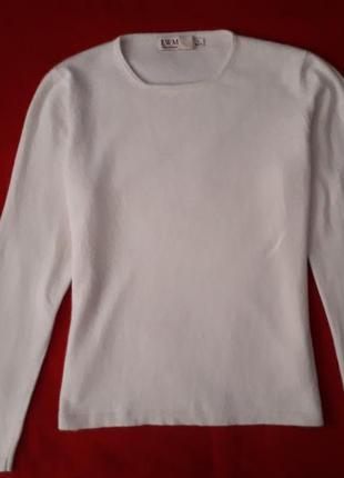Шикарная кофта свитер джемпер молочного цвета ewm шерсть ангора кашемир вискоза