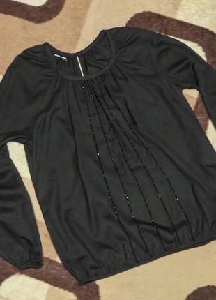 Черная шифоновая блуза от gerry weber