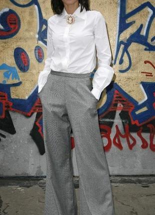 Широкие теплые брюки премиум класса