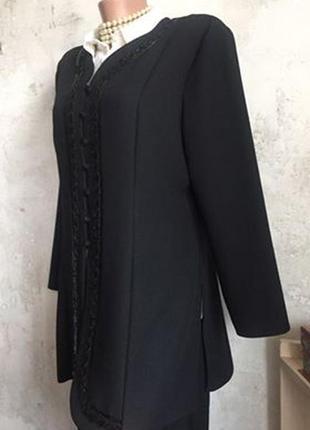 Нарядный пиджак, вышивка, бисер, пайетки, пуговки