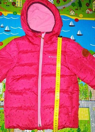 Куртка на флисе quechua на девочку 3-4 года