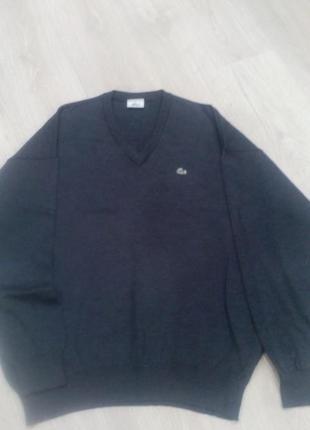 Шерстяной свитер*пуловер*джемпер*большой размер от lacoste