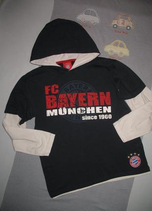"Реглан ""fc bayern munchen"" с капюшоном рост 152"