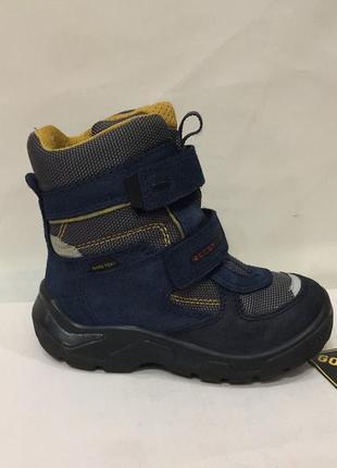 Ботинки ботиночки зимние сапожки черевики eссо gore-tex р. 29 (18.5см)