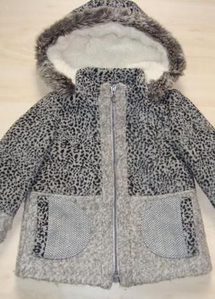 Зимнее пальто 2-3года