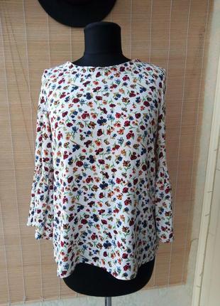 Блуза в стиле бохо в цветочек