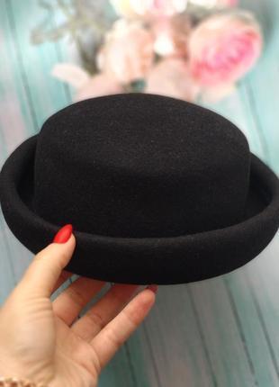 Шляпа котелок от next, шерсть 100%