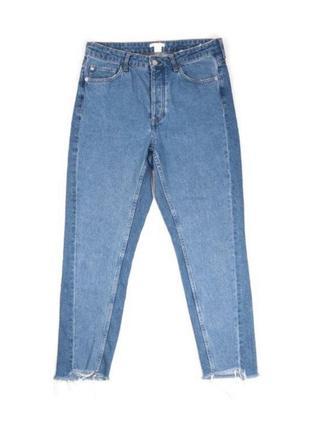 Только сегодня скидка мом джинсы бойфренды высокая талия с необработанным низом от h&m