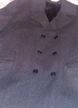 Пальто весна-осінь, 100%шерсть,facis. італія, темно сірий.