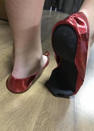 Чешки балетки красные 37-38 дороти алиса