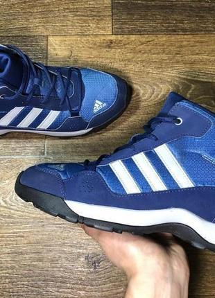 Ботинки adidas hyperhiker original 38 синие высокие