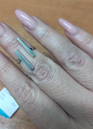 Серебряное кольцо родированное