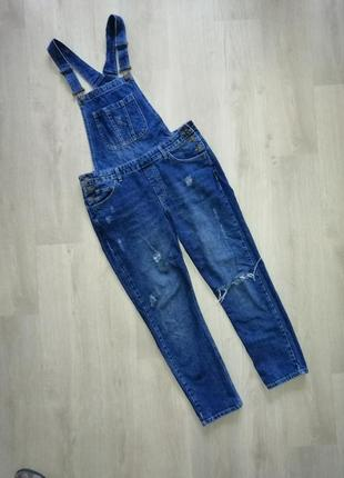 Комбинезон  джинсовый. деним можно и для беременных
