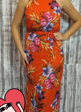 Сарафан с оголенными плечами в пол 12 размер f&f  большой выбор модной одежды