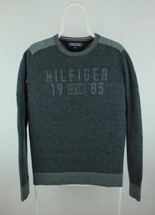 Оригинальный шерстяной свитер tommy hilfiger