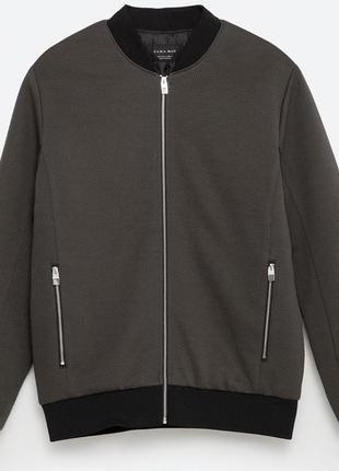 Zara  куртка мужская бомбер весна\осень цвета хаки