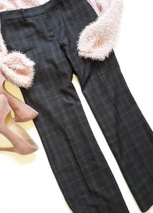 Красивейшие , осенние брюки клеш в клетку uk 12