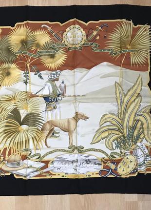 Salvatore ferragamo vintage silk scarf шёлк шёлковый платок винтаж италия hermès