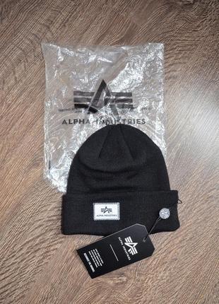 Оригинальная трендовая шапка коллекция 2019-2020 alpha industries ® beanies x-fit