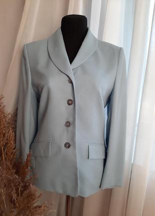 100%шерсть+100%вискоза👠новый💙невероятный пиджак именитого бренда