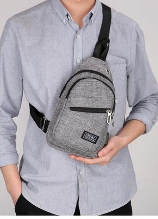 Мужская сумка - мессенджер со встроенным usb-портом сумка через плечо кросс боди 396
