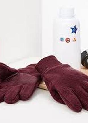 Тёплые антискользящие флисовые перчатки tchibo германия на рост: 110-128