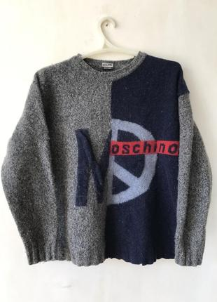 Шерстяной свитер свитшот moschino jeans
