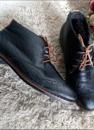 Rieker оригинал, теплие ботинки окфорди