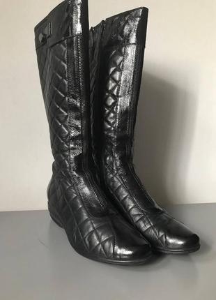 Сапоги ботинки кожа в стиле chanel италия оригинал р.37,5