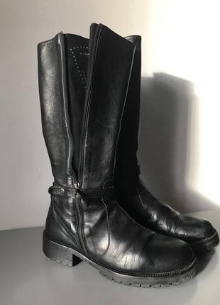 Крутые грубые ботинки сапоги бренда richmond италия кожа, р.38,5