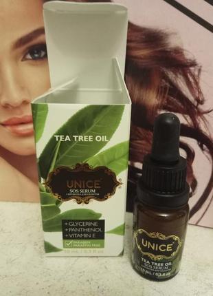Sos-сыворотка для лица с маслом чайного дерева, 10 мл unice