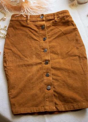 Вельветовая юбка-карандаш