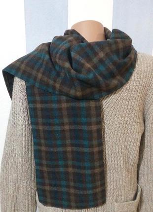 Теплий шарф з вовняної тканини