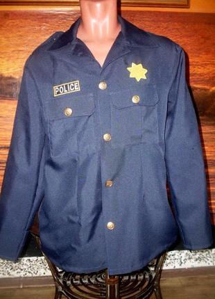 Маскарадный пиджак полицейского р. s есть дефекты