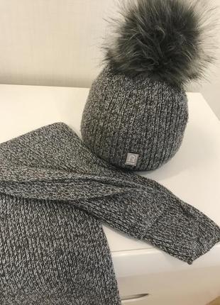 Комплект шапка+ шарф на мальчика