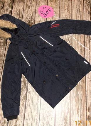 Демисезонная куртка (еврозима) next для мальчика 8-9 лет, 128-134 см