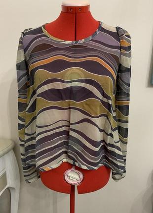 Шелковая стильная блуза со свободным кроем bgn