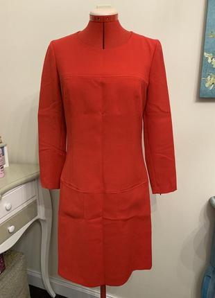 Красное платье с рукавами marc aurel