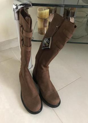 Сапоги зимние кожаные утеплённые gore tex дорогой бренд германии marc размер 38