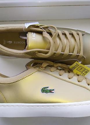 Брендовые кожаные полуьотинки кроссовки lacoste