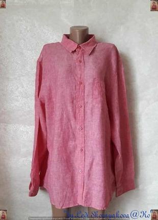 Новая фирменная блуза/рубашка со 100 % льна в нежном розовом цвете, размер хл-2хл