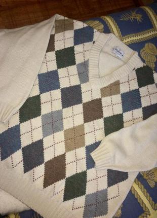 Грубый шерстяной свитер