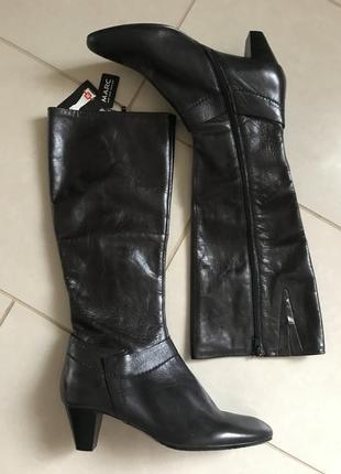Сапоги кожаные демисезонные утеплённые дорогой бренд германии marc размер 38